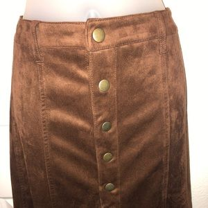 Mossimo Faux Suede Skirt